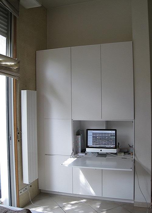 Rangement placard sur mesure bordeaux atelier wilmart - Secretaire blanc laque ...
