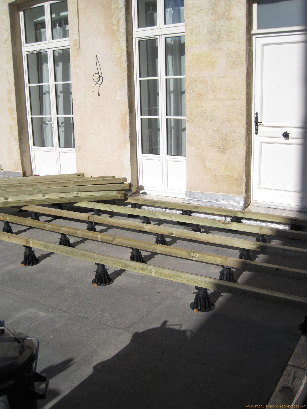 Terrasse bois sur terre leroy merlin - Terrasse sur plot sur terre ...